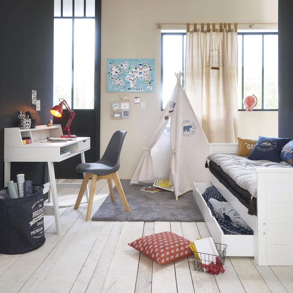 Baumwollkissen Blau Mit Bergmotiv 40x40 Pikes Maisons Du Monde