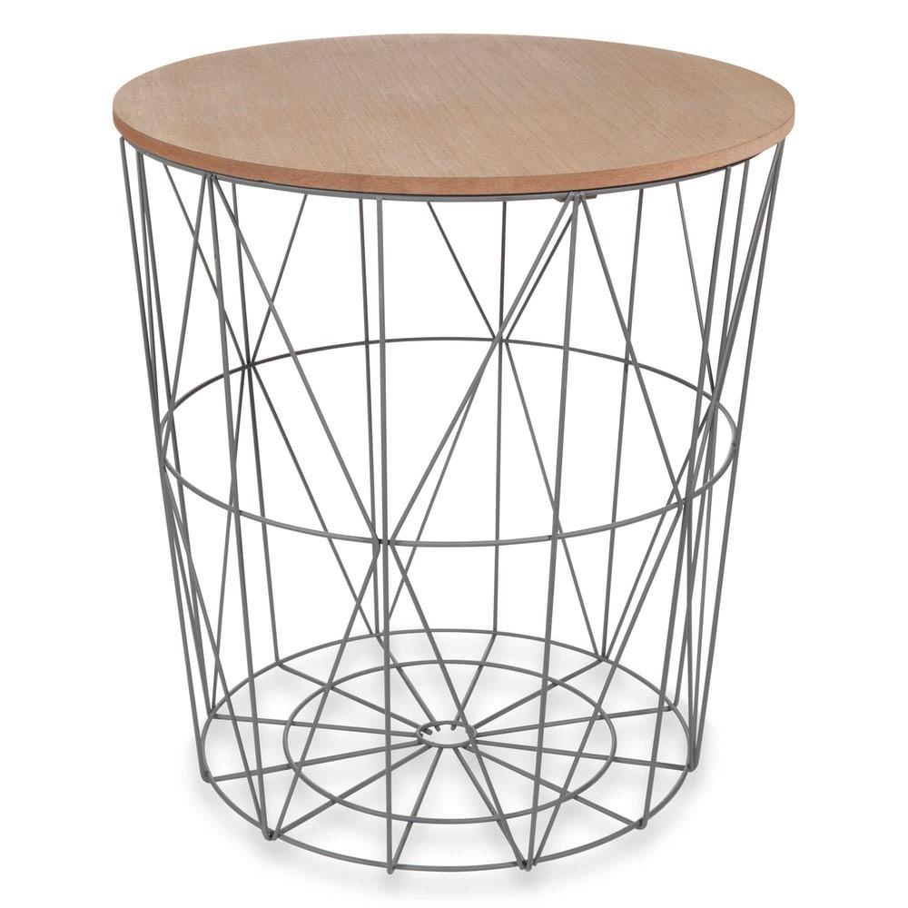 beistelltisch aus metall grau zigzag maisons du monde. Black Bedroom Furniture Sets. Home Design Ideas