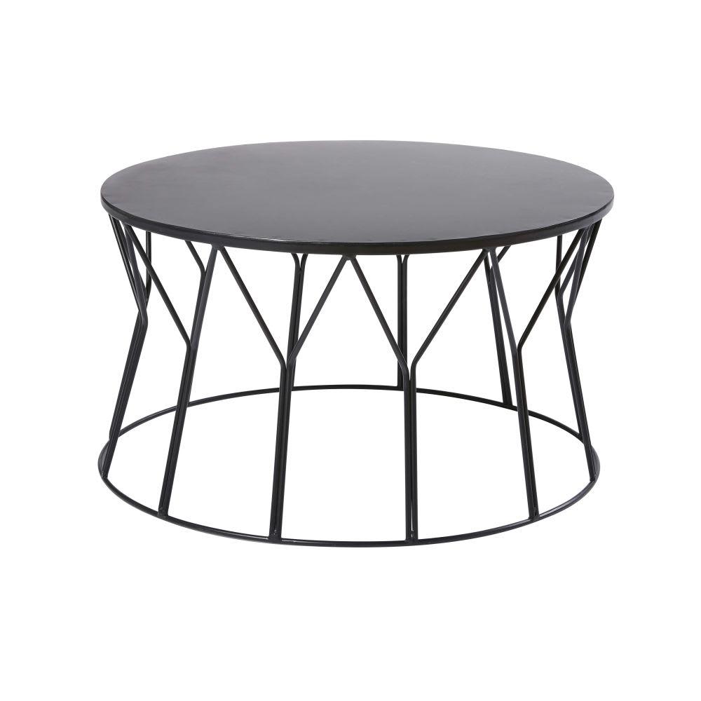 beistelltisch aus metall schwarz ando maisons du monde. Black Bedroom Furniture Sets. Home Design Ideas