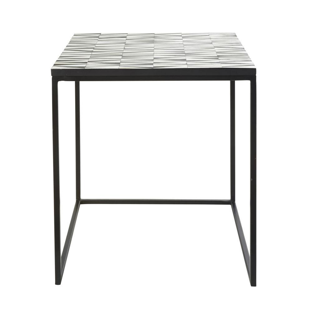 beistelltisch aus schwarzem metall h51 burkina maisons. Black Bedroom Furniture Sets. Home Design Ideas