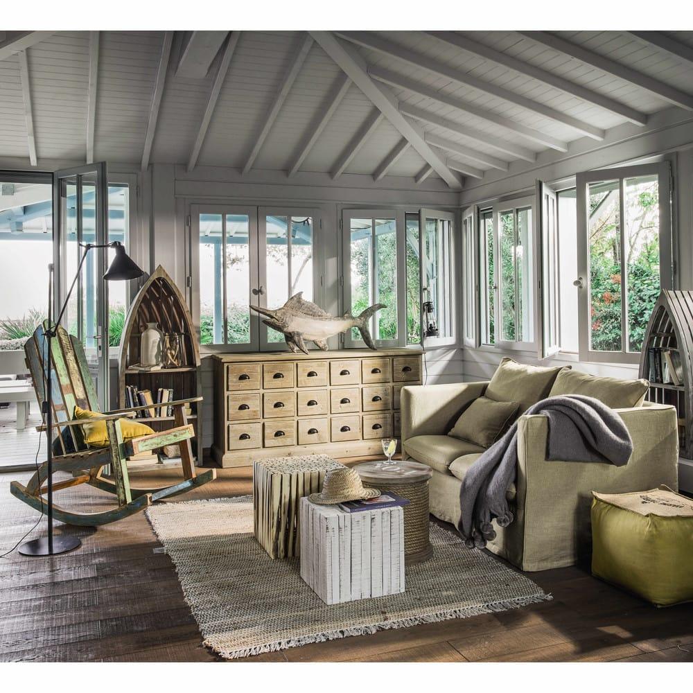 beistelltisch aus holz b 35 cm gewei t patras maisons du monde. Black Bedroom Furniture Sets. Home Design Ideas