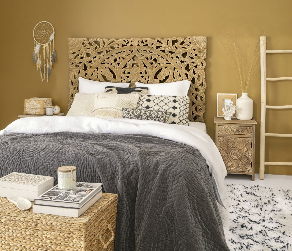 berber kissen ecru und goldfarben 50x50 maisons du monde. Black Bedroom Furniture Sets. Home Design Ideas