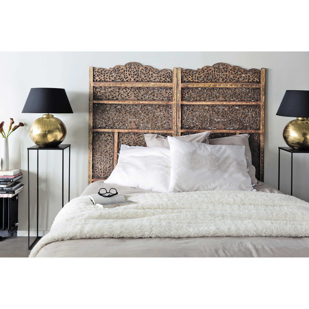 bett kopfteil aus holz b 160 cm alhambra maisons du monde. Black Bedroom Furniture Sets. Home Design Ideas