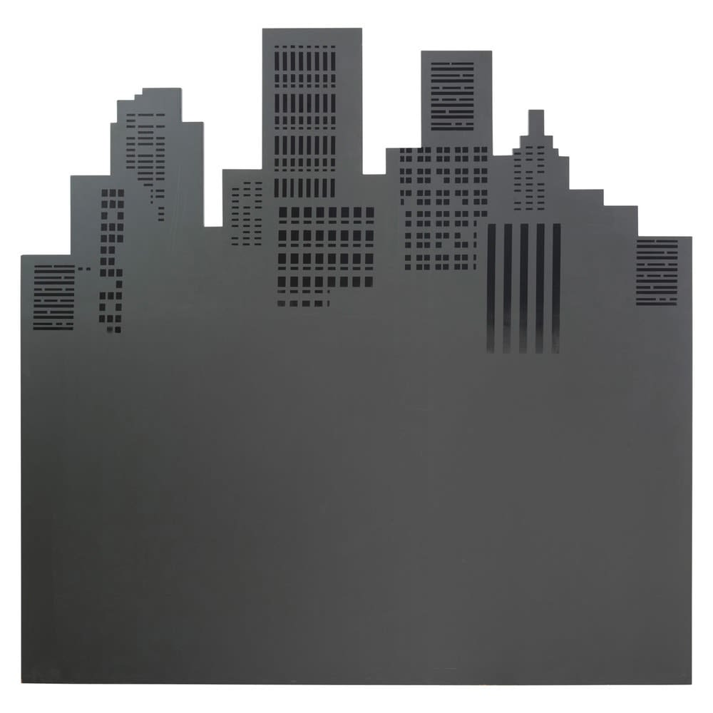 bett kopfteil b 140 grau skywalk maisons du monde. Black Bedroom Furniture Sets. Home Design Ideas