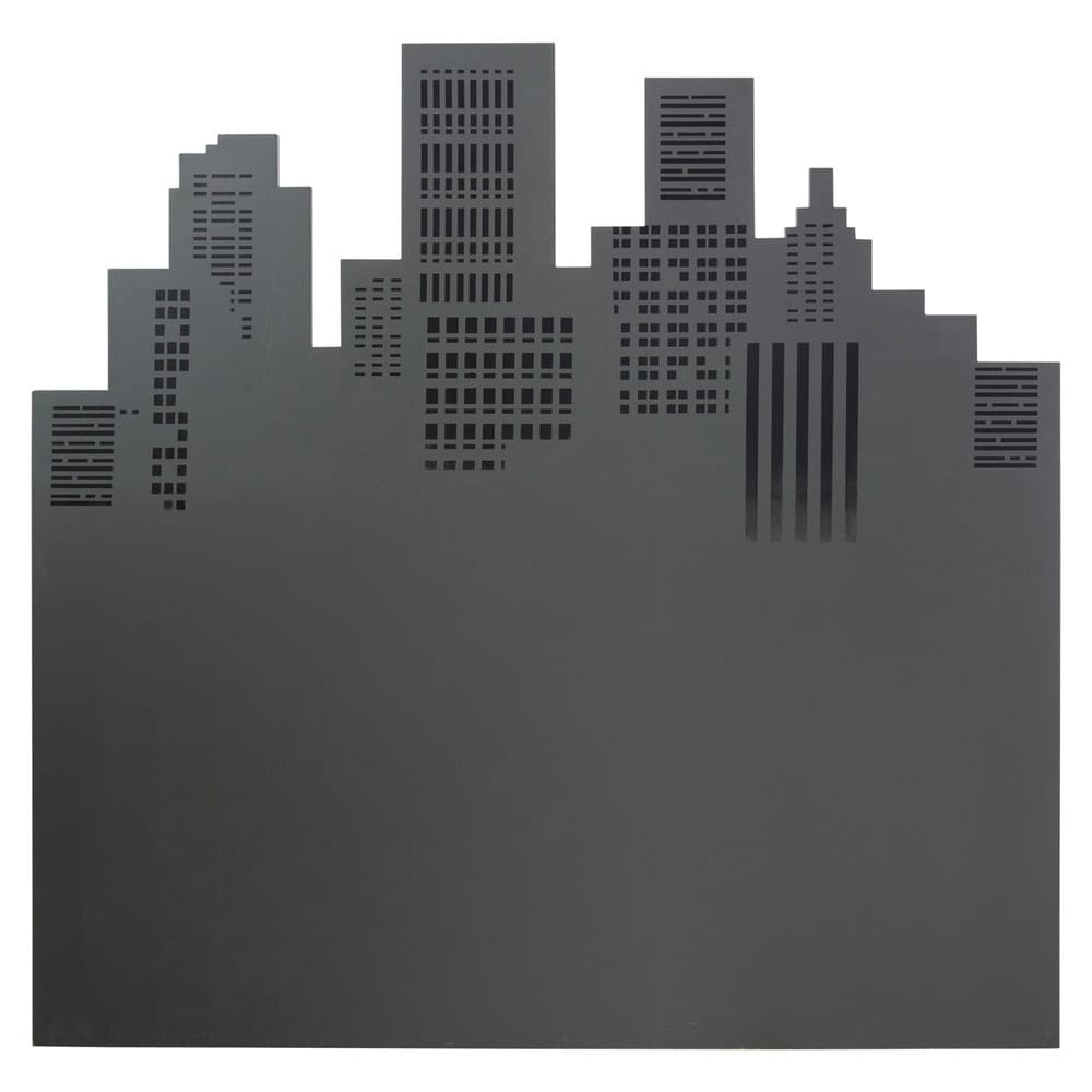 bett kopfteil b 140 grau skywalk skywalk maisons du monde. Black Bedroom Furniture Sets. Home Design Ideas