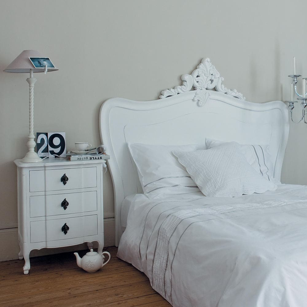 bett kopfteil b 160 cm wei comtesse maisons du monde. Black Bedroom Furniture Sets. Home Design Ideas