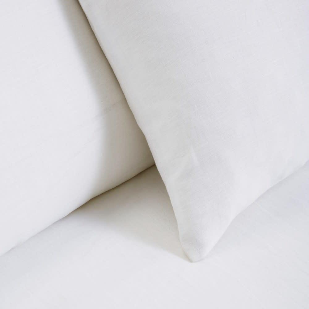 Bettwäschegarnitur Aus Weißem Leinen 220x240 Maisons Du Monde
