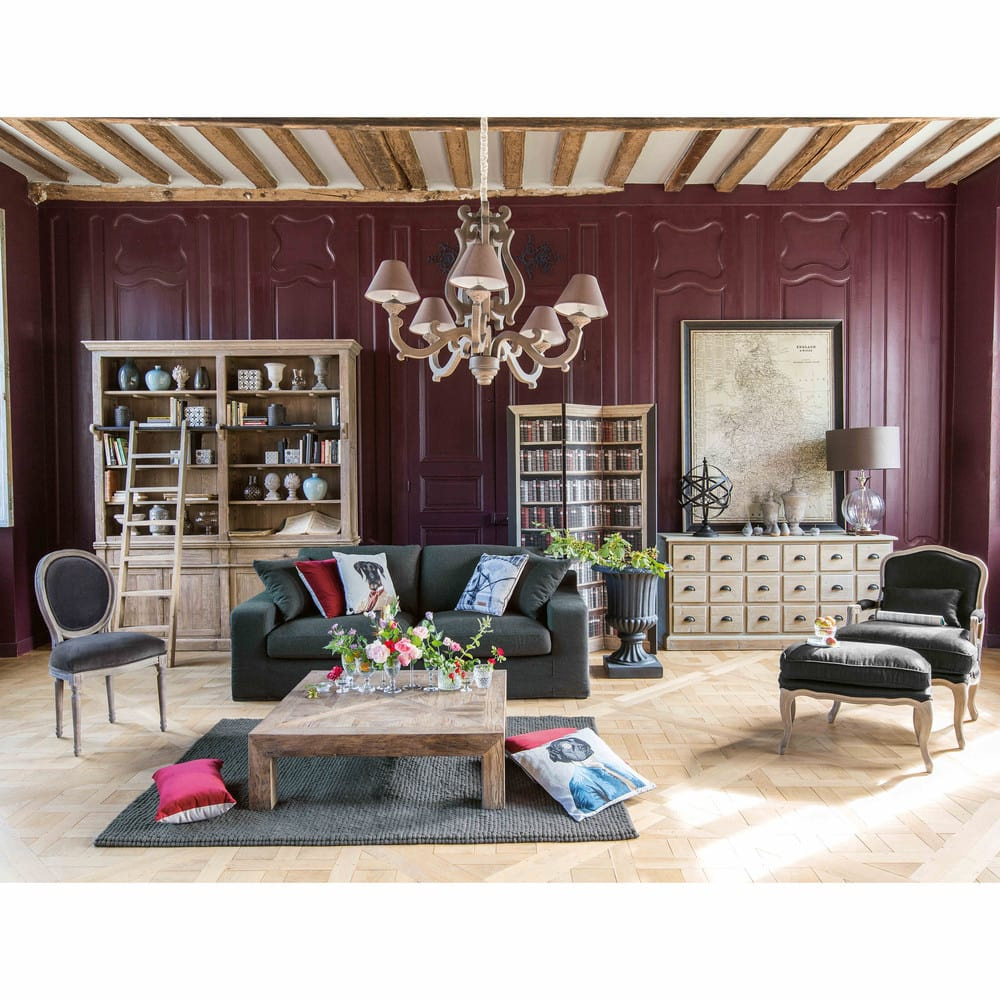 biblioth que avec chelle en pin recycl aristote maisons du monde. Black Bedroom Furniture Sets. Home Design Ideas