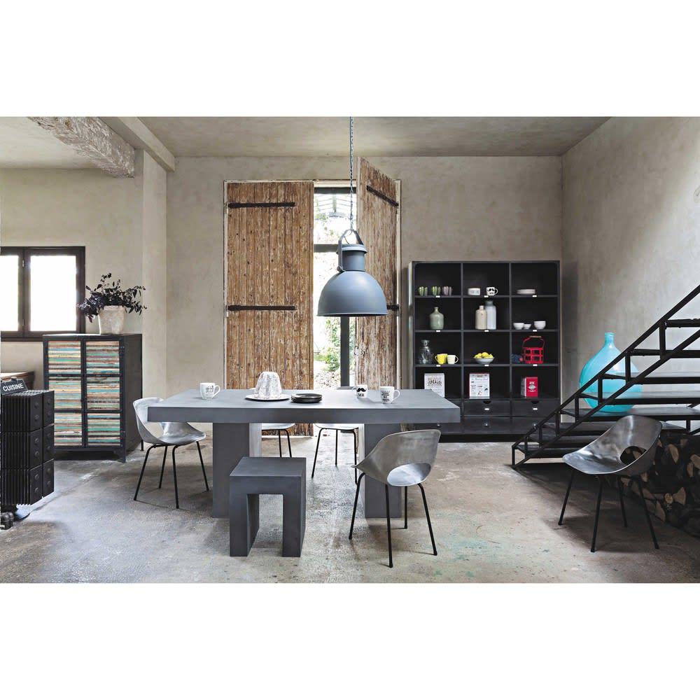 biblioth que indus en m tal noir edison maisons du monde. Black Bedroom Furniture Sets. Home Design Ideas