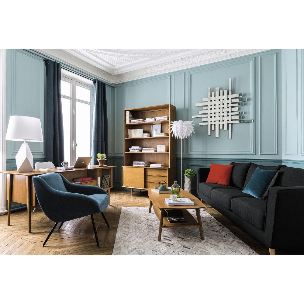 biblioth que vintage 3 tiroirs 1 porte en ch ne massif. Black Bedroom Furniture Sets. Home Design Ideas