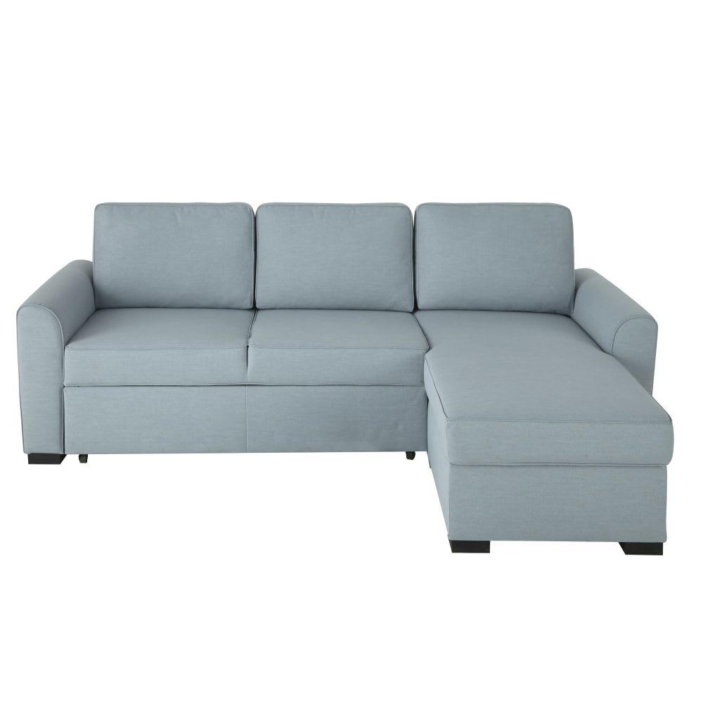 Blue Grey 3 4 Seater Corner Sofa Bed Montr 233 Al Maisons Du