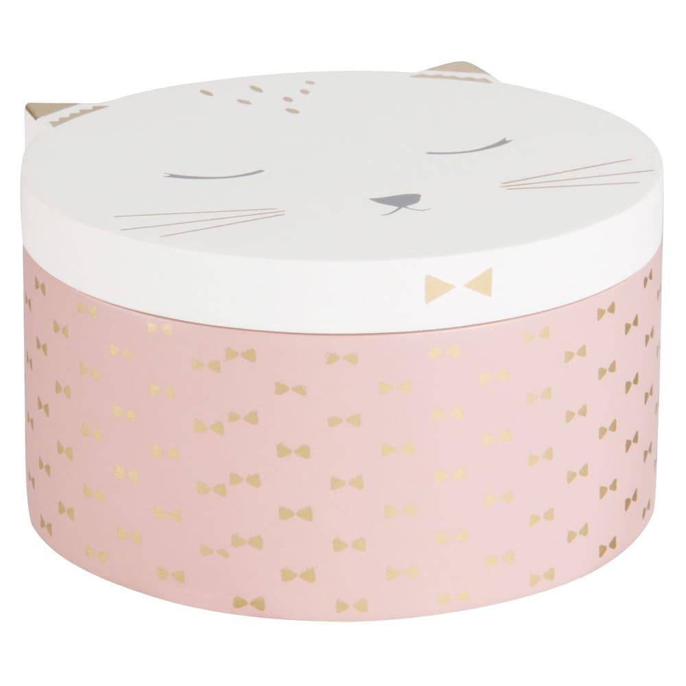 Boîte à bijoux chat rose et blanche Kitty | Maisons du Monde