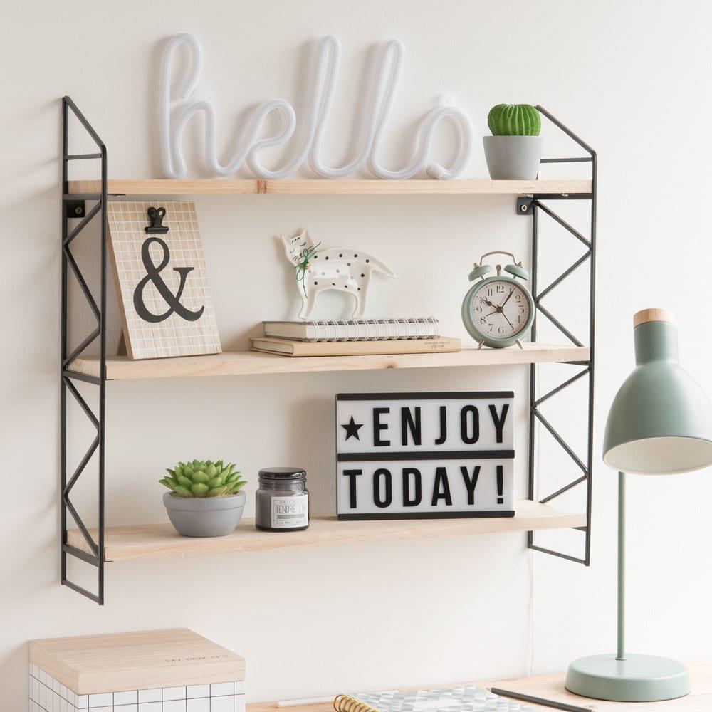 bo te lumineuse message lightbox a5 maisons du monde. Black Bedroom Furniture Sets. Home Design Ideas