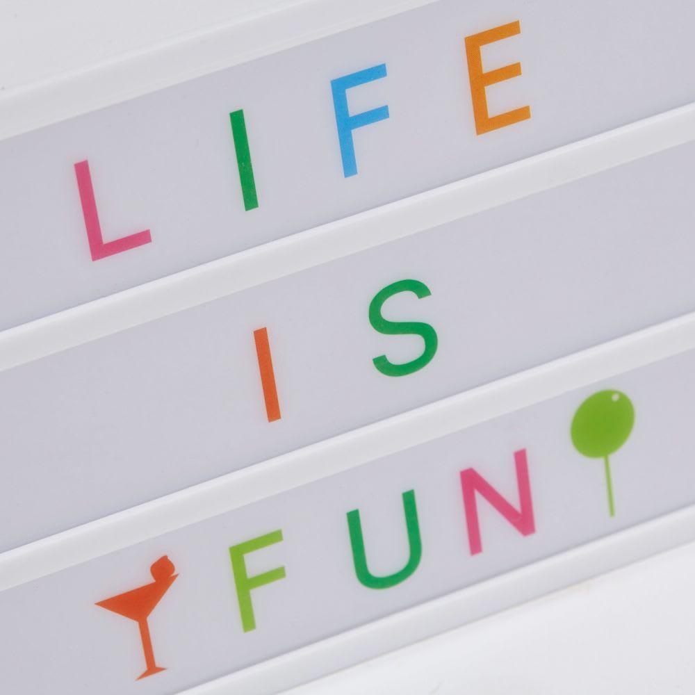 bo te lumineuse message lightbox a6 summer color. Black Bedroom Furniture Sets. Home Design Ideas