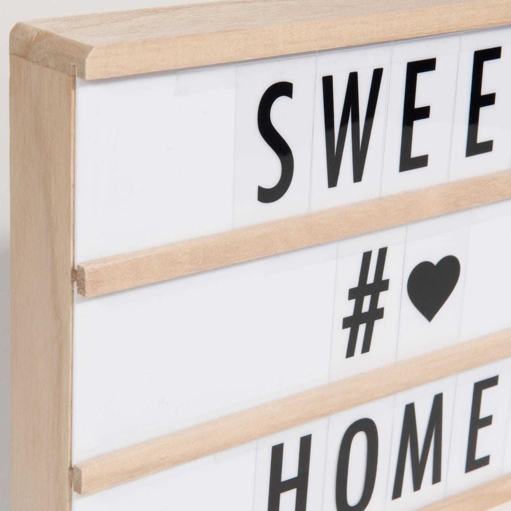 bo te lumineuse messages lightbox led a4 maisons du monde. Black Bedroom Furniture Sets. Home Design Ideas