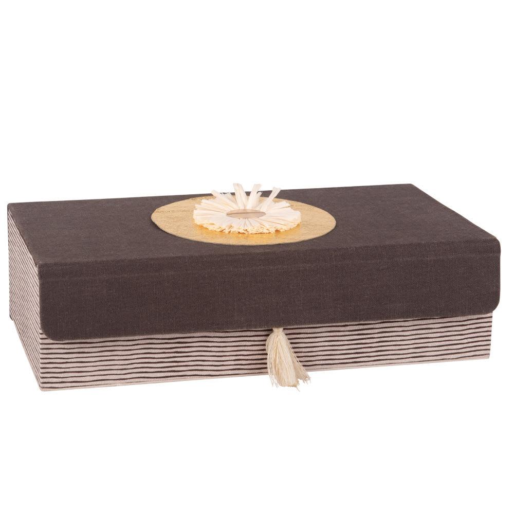 Boîte motifs à rayures Yamani