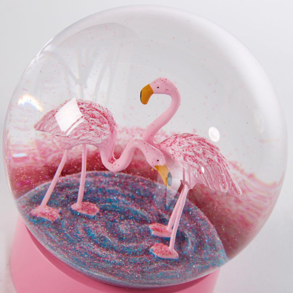 boule neige flamants roses flamingo maisons du monde. Black Bedroom Furniture Sets. Home Design Ideas