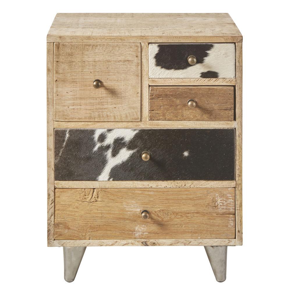 bout de canap 5 tiroirs en manguier americana maisons. Black Bedroom Furniture Sets. Home Design Ideas