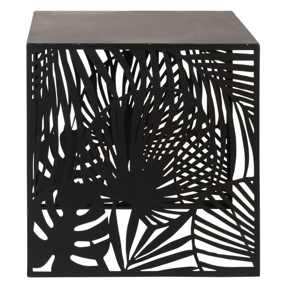 bout de canap en m tal ajour noir jaro maisons du monde. Black Bedroom Furniture Sets. Home Design Ideas