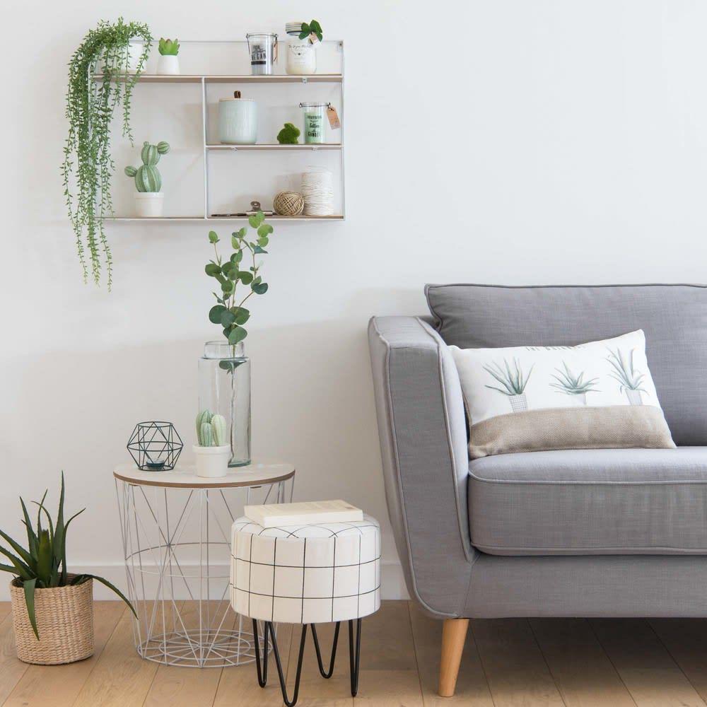 bout de canap en m tal blanc parker maisons du monde. Black Bedroom Furniture Sets. Home Design Ideas