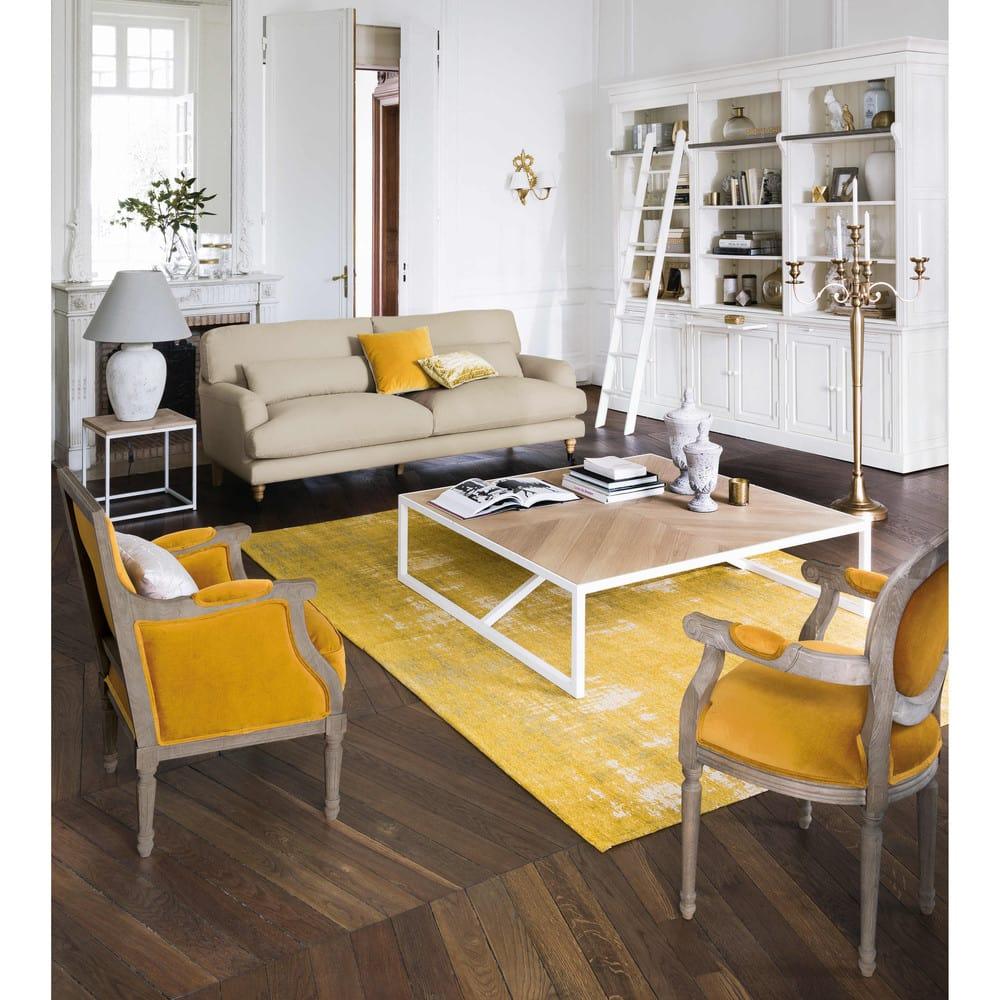 bout de canap en m tal blanc ambon maisons du monde. Black Bedroom Furniture Sets. Home Design Ideas