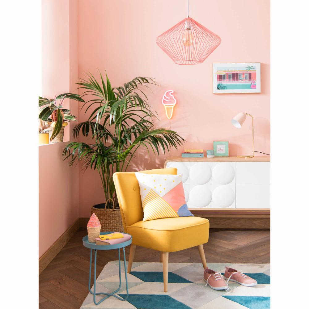 bout de canap en m tal bleu zoe maisons du monde. Black Bedroom Furniture Sets. Home Design Ideas