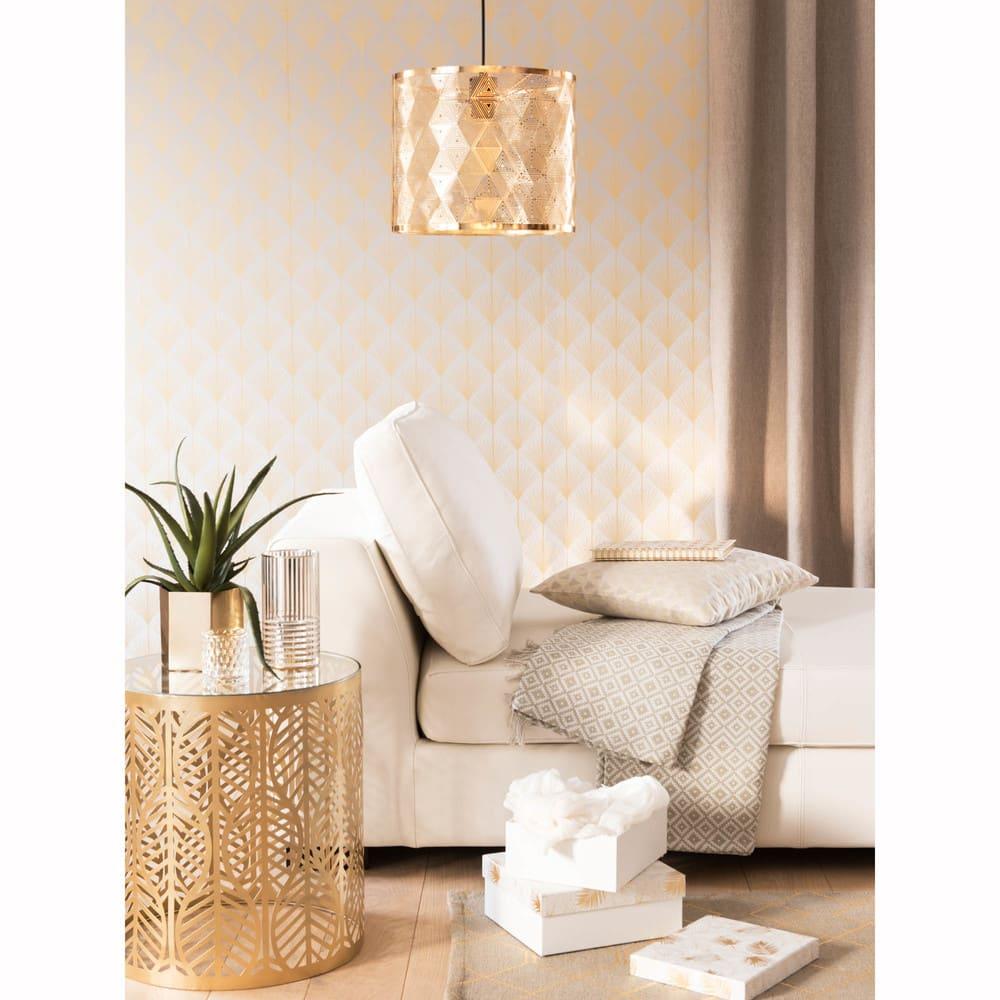 bout de canap en m tal dor et verre maisons du monde. Black Bedroom Furniture Sets. Home Design Ideas
