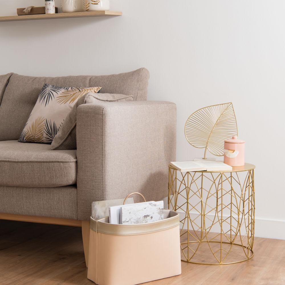 bout de canap en m tal filaire dor folio maisons du monde. Black Bedroom Furniture Sets. Home Design Ideas