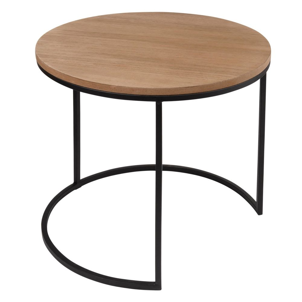 bout de canap en m tal noir jeff maisons du monde. Black Bedroom Furniture Sets. Home Design Ideas