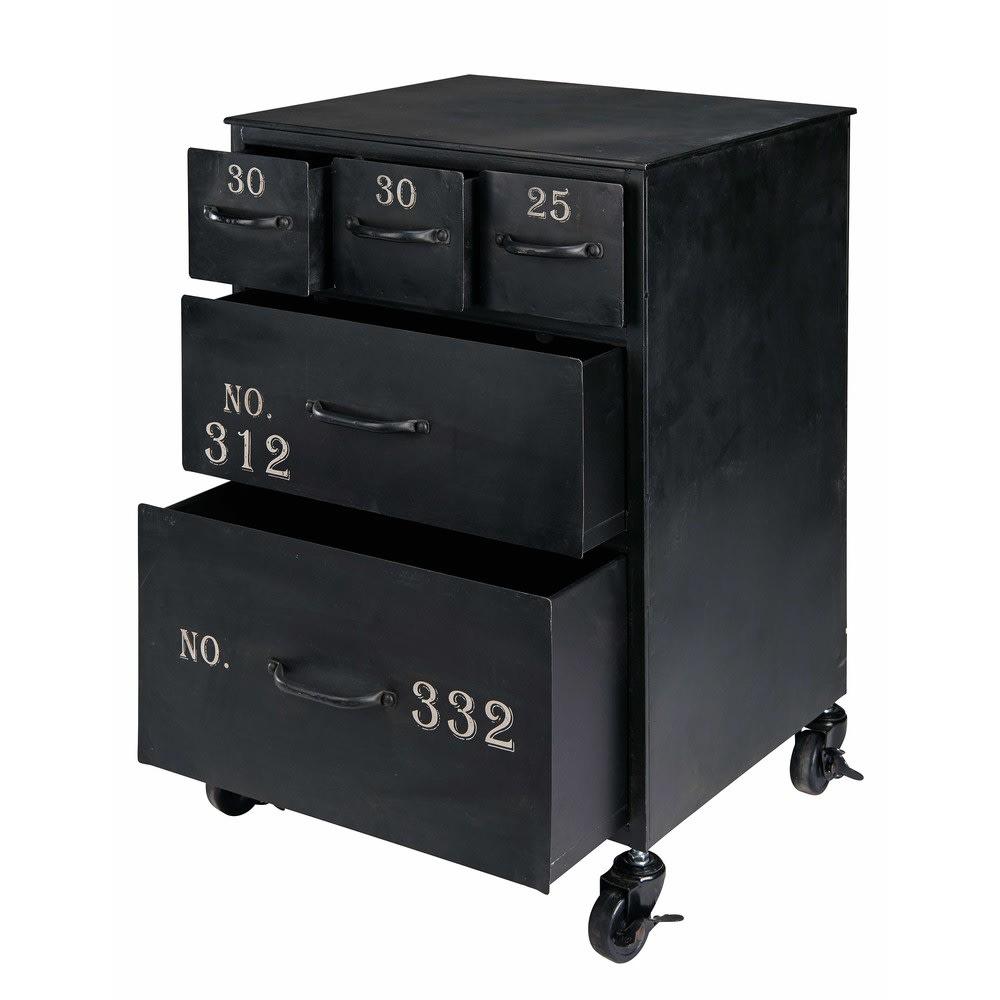 bout de canap en m tal noir gulliver maisons du monde. Black Bedroom Furniture Sets. Home Design Ideas