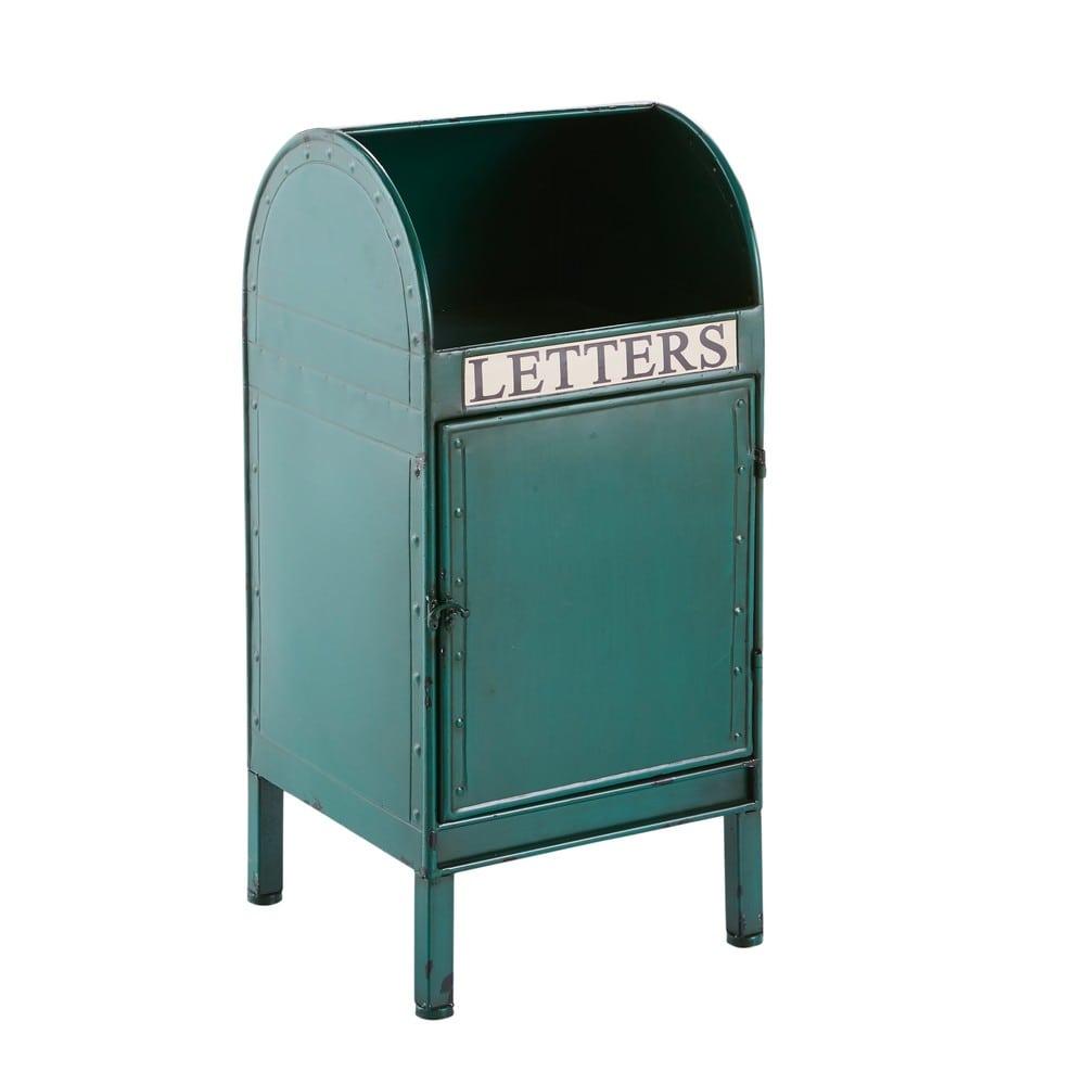 bout de canap en m tal vert letters maisons du monde. Black Bedroom Furniture Sets. Home Design Ideas