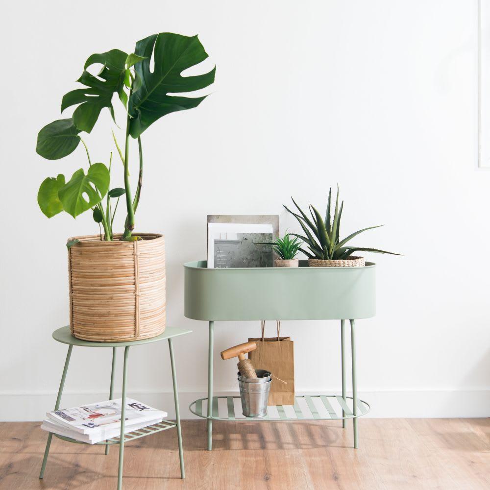 bout de canap en m tal vert coby maisons du monde. Black Bedroom Furniture Sets. Home Design Ideas