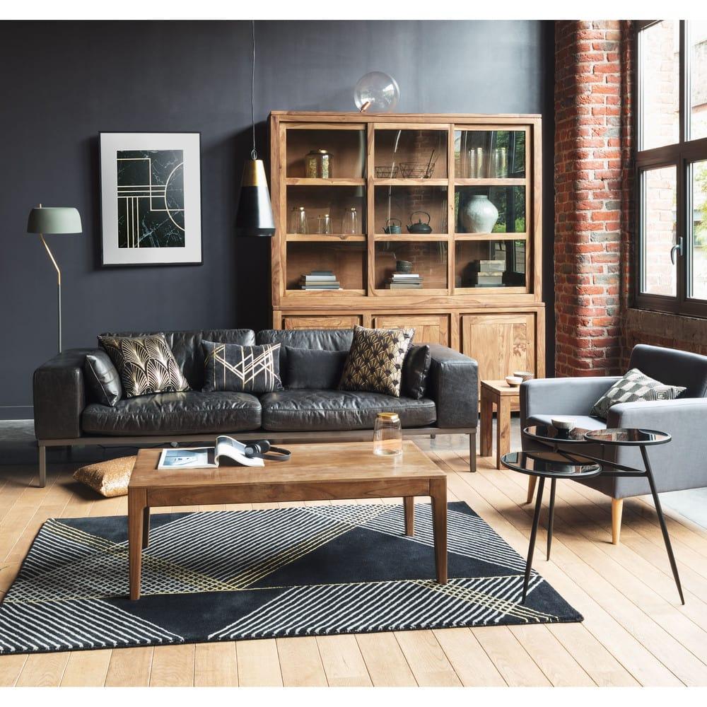bout de canap en sheesham massif stockholm maisons du monde. Black Bedroom Furniture Sets. Home Design Ideas