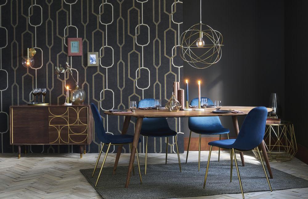 bout de canap en verre et m tal filaire dor florentine. Black Bedroom Furniture Sets. Home Design Ideas
