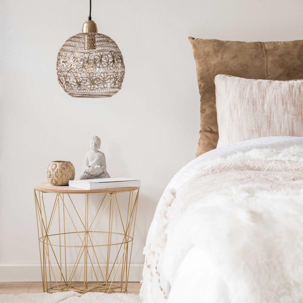 bout de canap filaire dor mandala maisons du monde. Black Bedroom Furniture Sets. Home Design Ideas