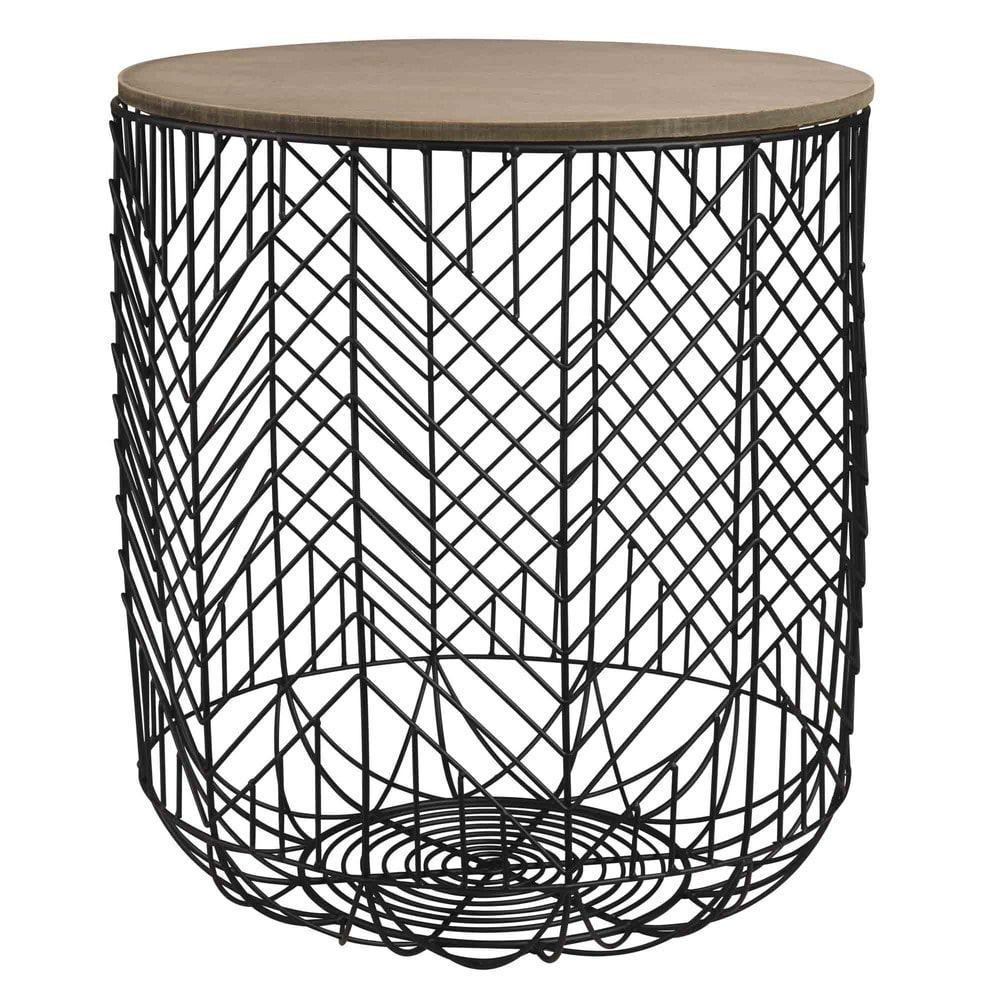 bout de canap filaire noir sahida maisons du monde. Black Bedroom Furniture Sets. Home Design Ideas