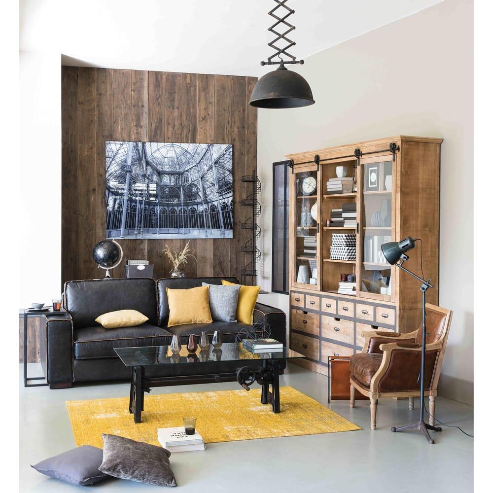 Bout de canapé indus en métal noir Edison | Maisons du Monde