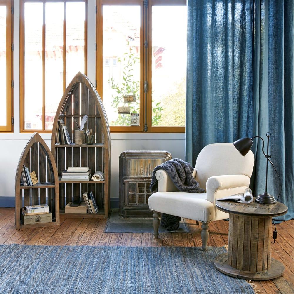 bout de canap touret en manguier d50 sailor maisons du. Black Bedroom Furniture Sets. Home Design Ideas
