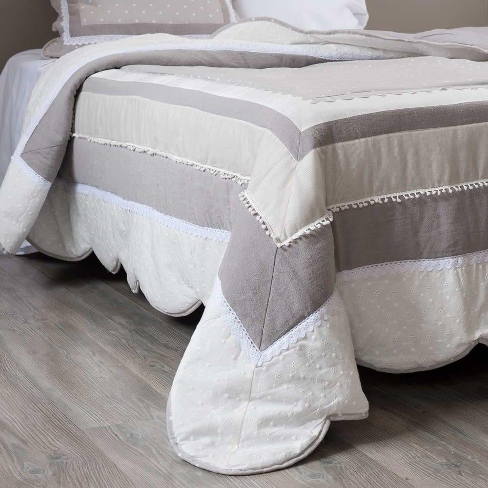 Boutis en coton 240 x 260 cm Bérénice | Maisons