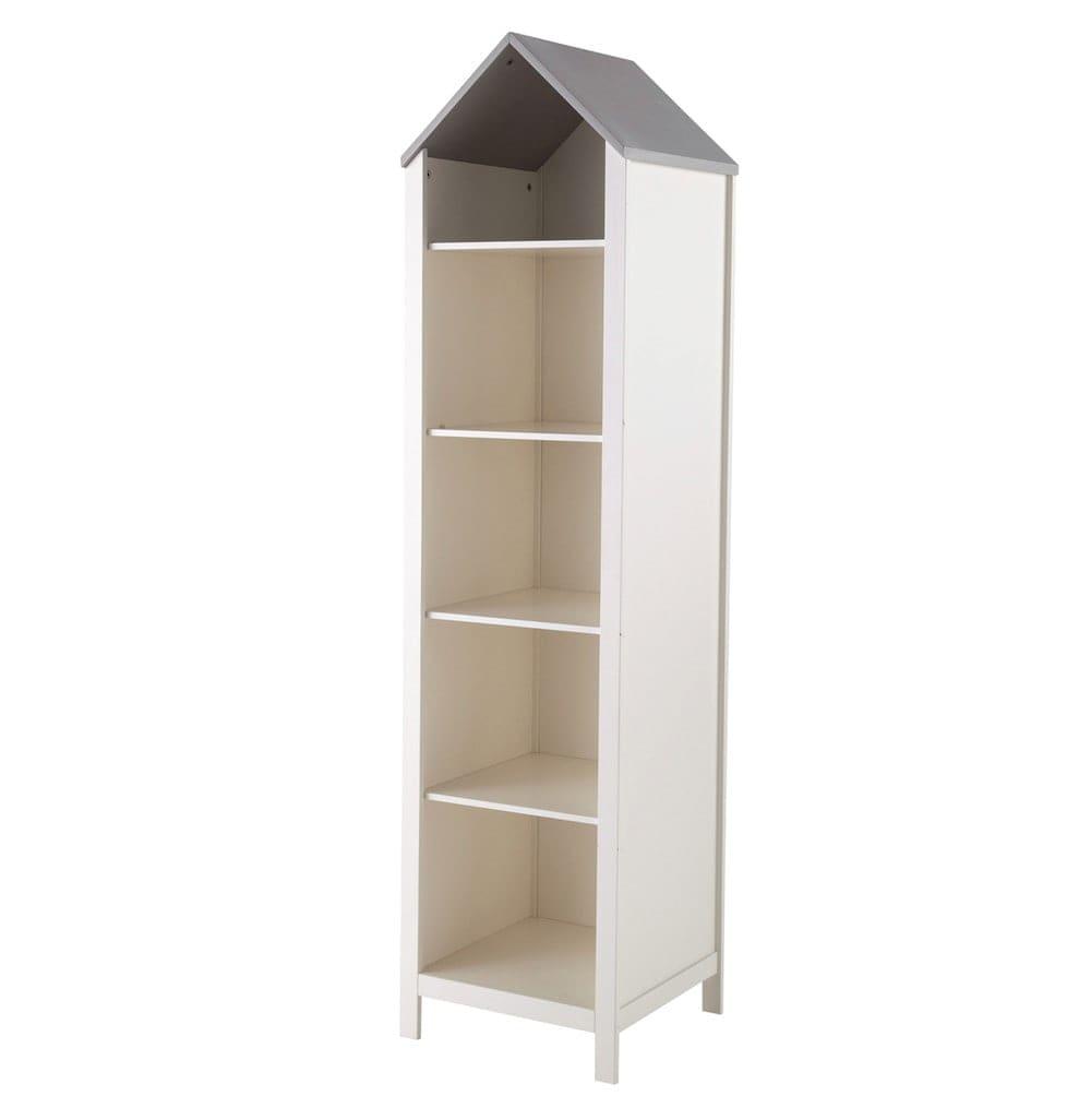 b cherregal haus aus holz b 45 cm wei songe maisons. Black Bedroom Furniture Sets. Home Design Ideas