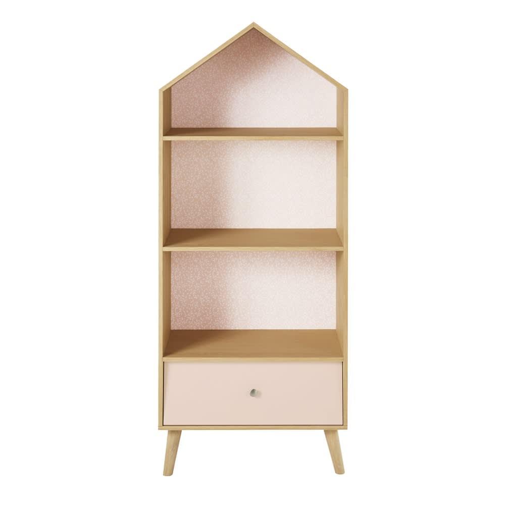 b cherregal in hausform f r kinder rosa und wei bucolique maisons du monde. Black Bedroom Furniture Sets. Home Design Ideas