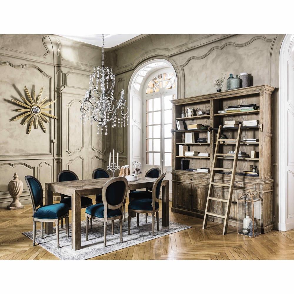 b cherregal mit 2 schubladen 4 t ren und leiter aus. Black Bedroom Furniture Sets. Home Design Ideas