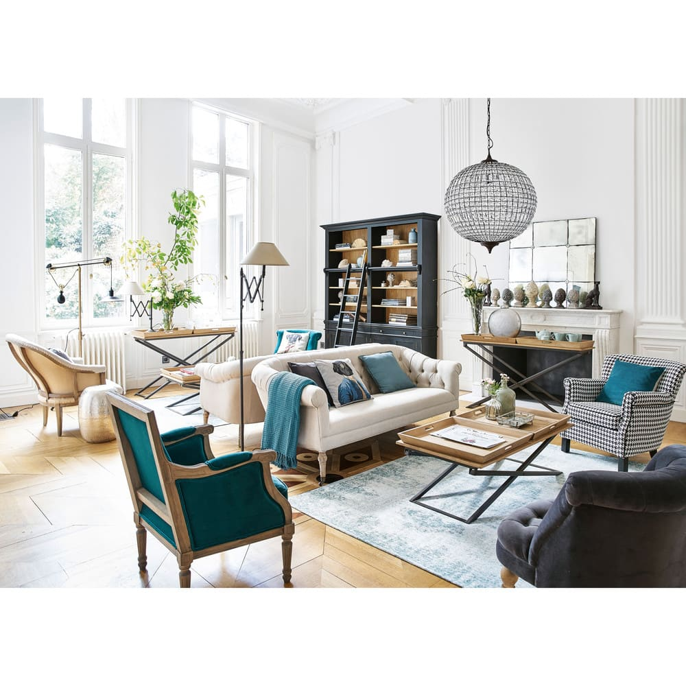b cherregal mit 2 schubladen 4 t ren und leiter schwarz. Black Bedroom Furniture Sets. Home Design Ideas