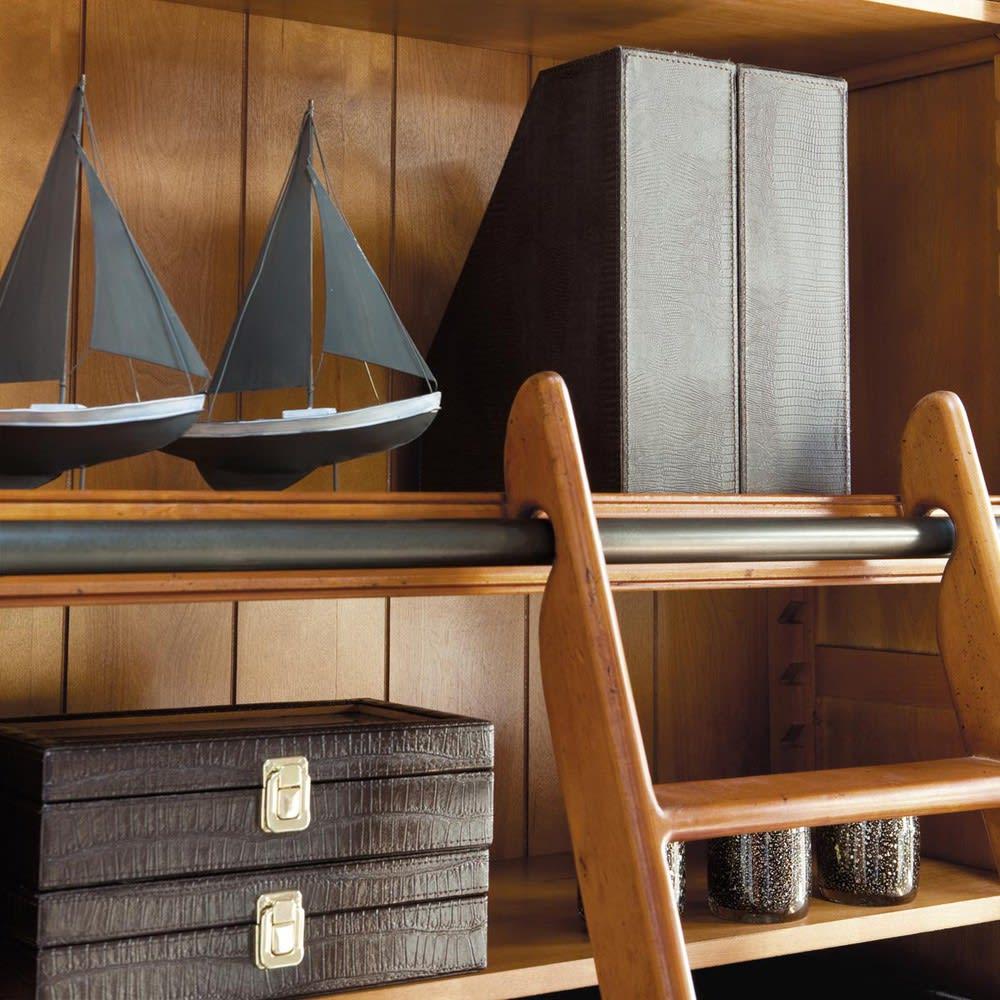 b cherregal mit 3 schubladen 2 t ren und leiter voyage. Black Bedroom Furniture Sets. Home Design Ideas