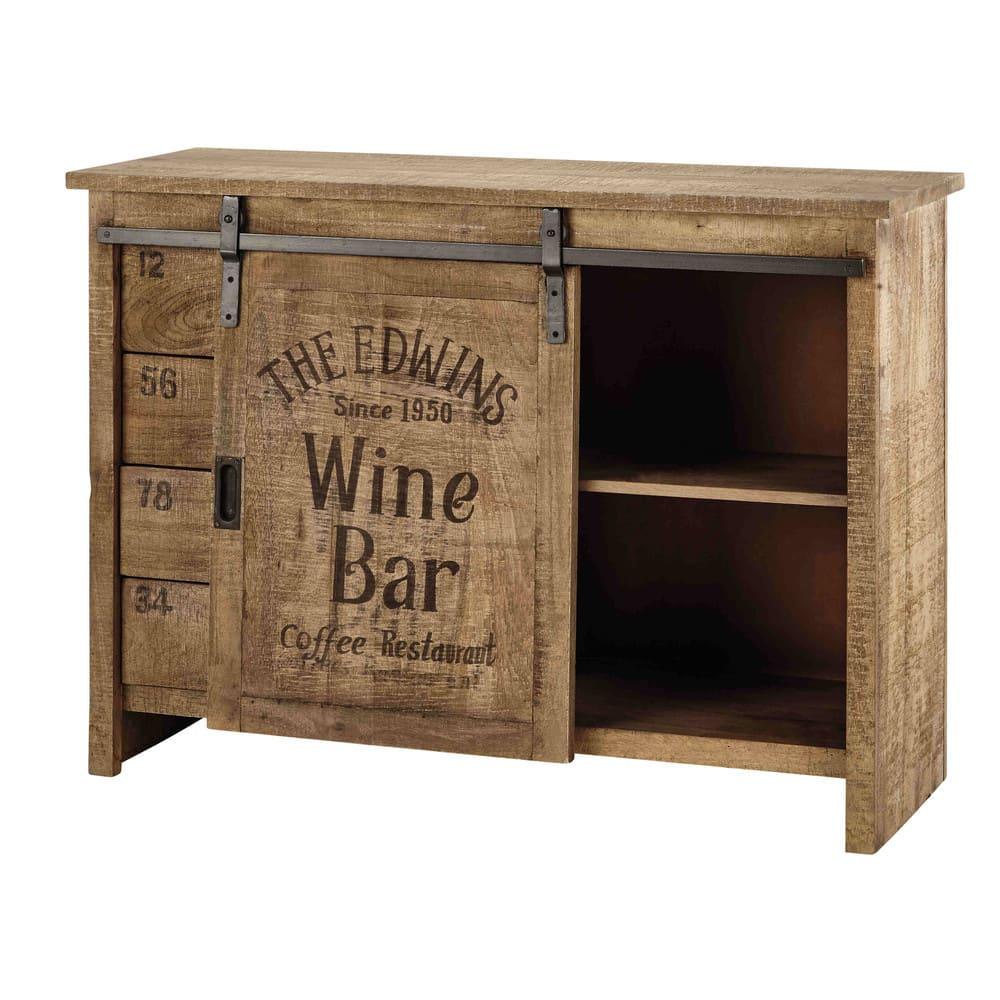 buffet 1 porte 4 tiroirs en manguier germain maisons du. Black Bedroom Furniture Sets. Home Design Ideas