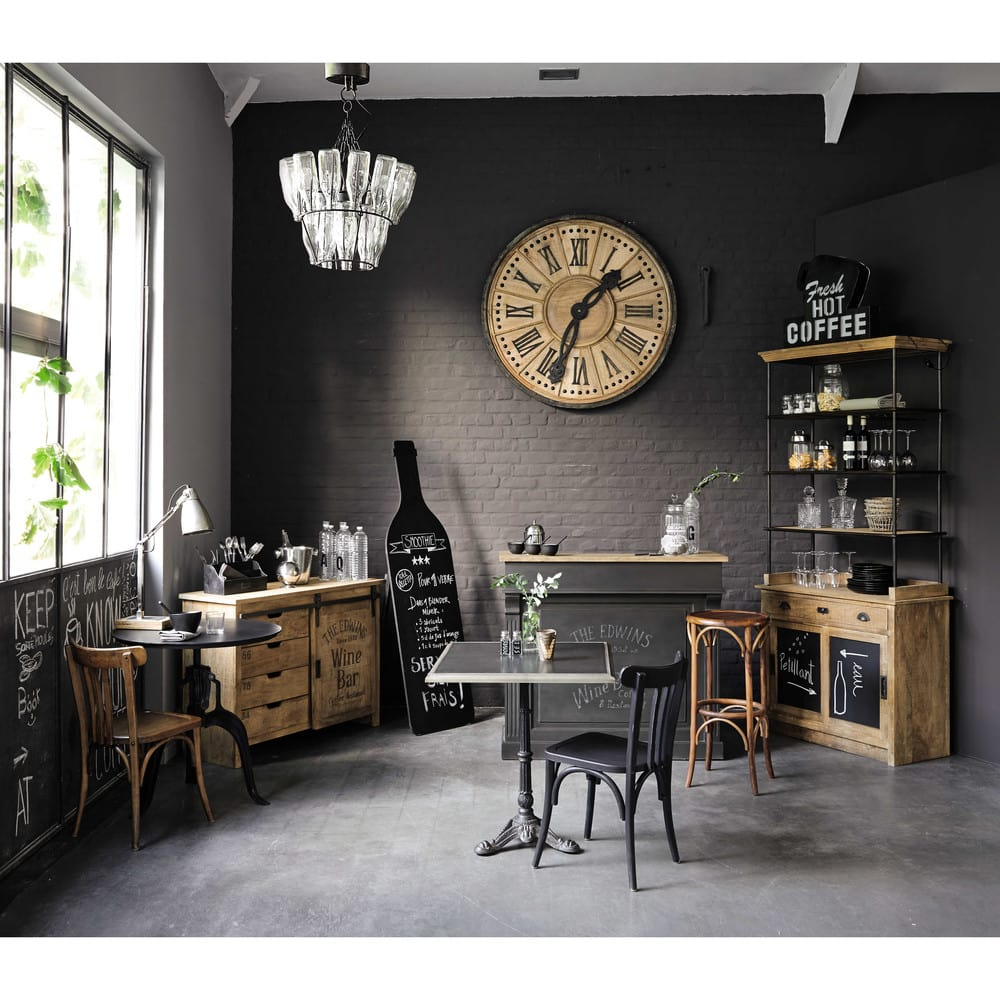 buffet 1 porte 4 tiroirs en manguier germain maisons du. Black Bedroom Furniture Sets. Home Design Ideas