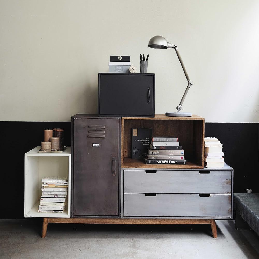 buffet d structur en manguier massif lenox maisons du monde. Black Bedroom Furniture Sets. Home Design Ideas