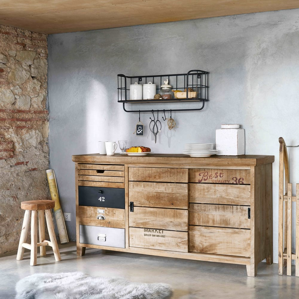 Buffet en manguier farmers maisons du monde for Maison du monde credenze