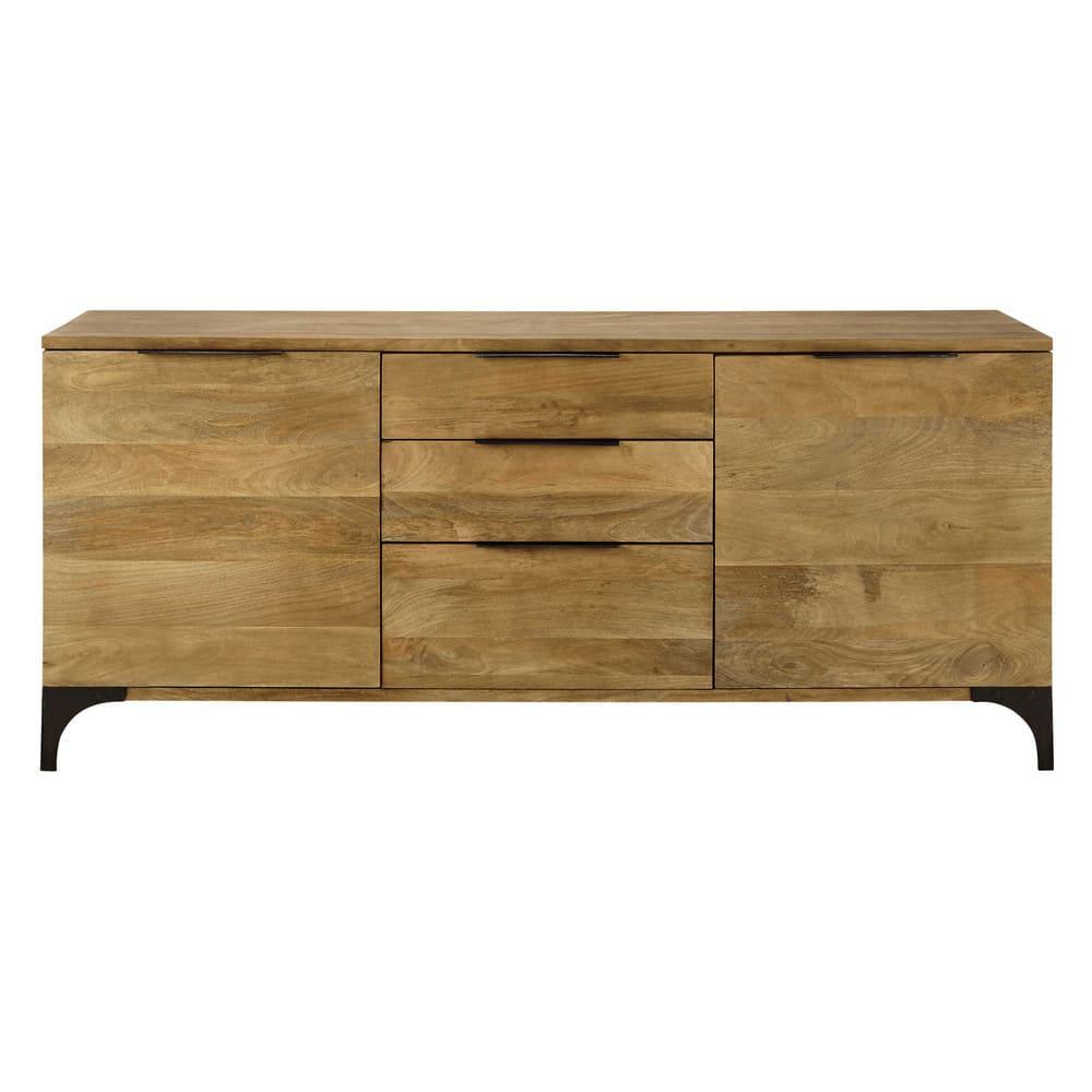 buffet en manguier massif et acacia metropolis maisons. Black Bedroom Furniture Sets. Home Design Ideas
