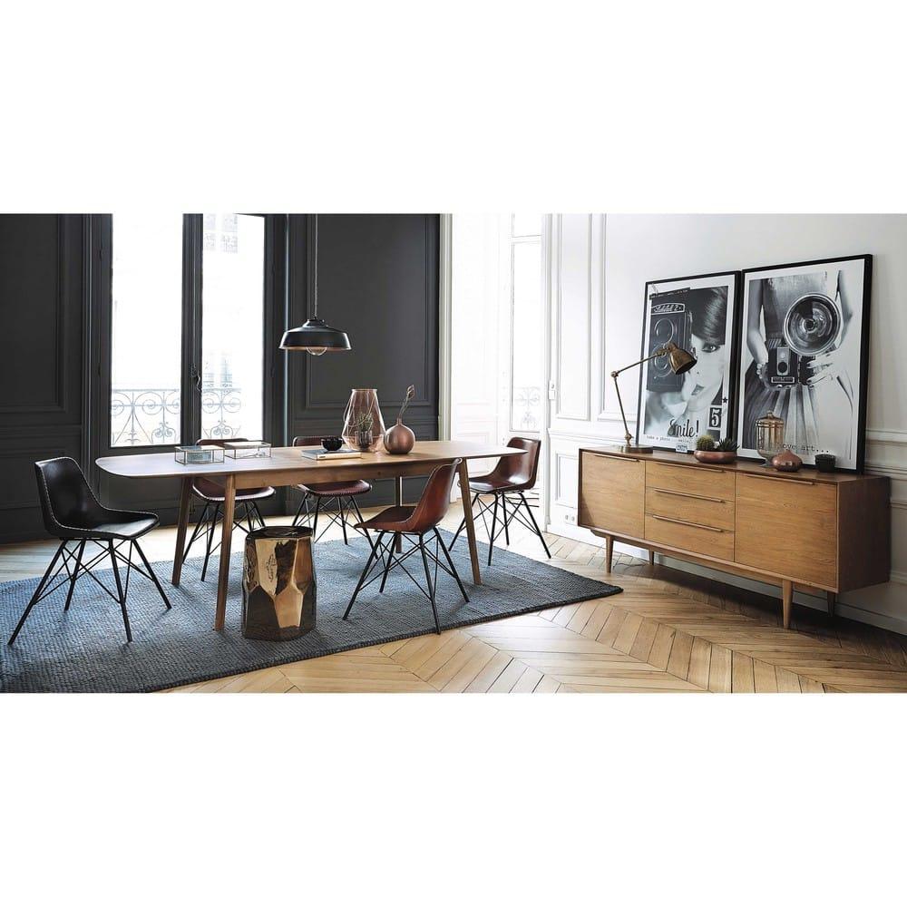 buffet enfilade vintage en ch ne massif portobello. Black Bedroom Furniture Sets. Home Design Ideas